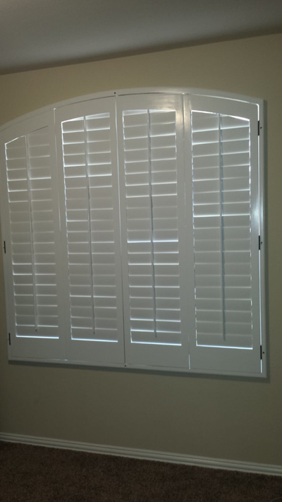 window shutters with arch
