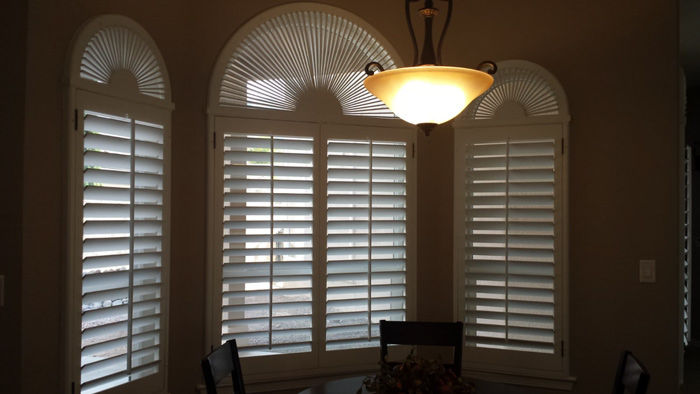 3 windows with shutters